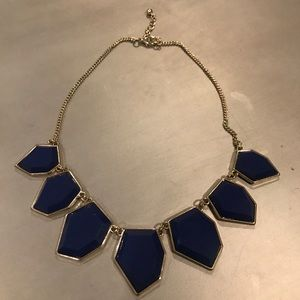 Bauble Bar Blue Geo Necklace